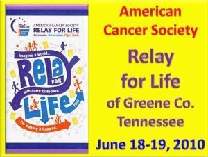 Relay for Life Title Page