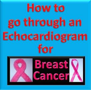 How to go through an Echocardiogram for Breast Cancer. Picture created with Powerpoint and my Digital Camera.