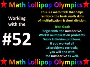 Math Lollipop Olympics – Work with #52