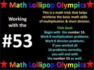 Math Lollipop Olympics – Work with #53