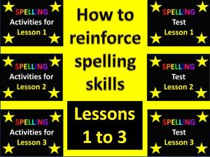How to reinforce spelling skills - Lessons 1 to 3 CLIP